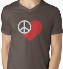 Peace & Love Men's V-Neck T-Shirt