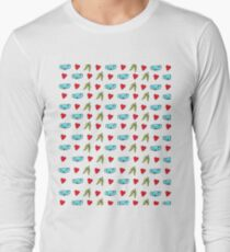 Koala Loves Eucalyptus Leaves Pattern Long Sleeve T-Shirt
