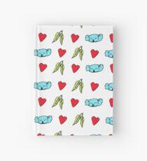 Koala Loves Eucalyptus Leaves Pattern Hardcover Journal