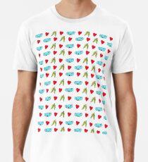 Koala Loves Eucalyptus Leaves Pattern Premium T-Shirt