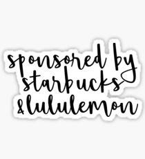 Pegatina Patrocinado por Starbucks y Lululemon