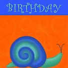 Happy Birthday - Snail by Julie Thomas