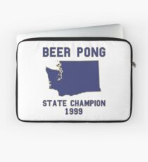 Vintage Washington Beer Pong State Champion Laptop Sleeve
