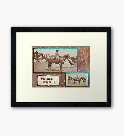 Light Horseman  WW1 Framed Print