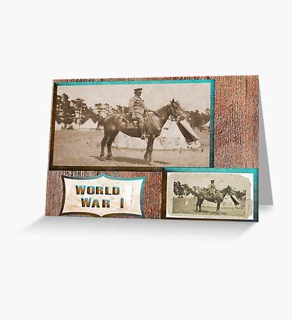 Light Horseman  WW1 Greeting Card