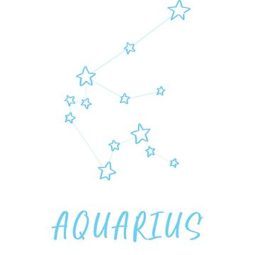 Aquarius Constellation by WordvineMedia