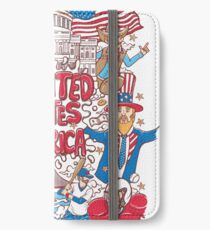 welcome to united states of america illustration iPhone Wallet/Case/Skin