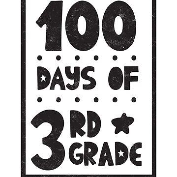 Teachers Students T-Shirt 100 Days Of 3rd Grade Tee Gift  by arnaldog
