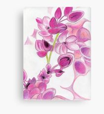 Psychedelic Pink Florals Canvas Print