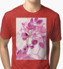 Psychedelic Pink Florals Tri-blend T-Shirt