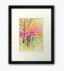 Study of Syd Barrett's 'Man and Donkey' Framed Print
