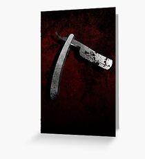 Tarjeta de felicitación Sweeney Todd