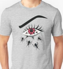 Creepy Red Eye With Crawling Ants Unisex T-Shirt