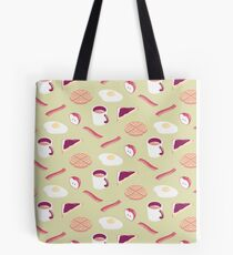Green Breakfast Tote Bag