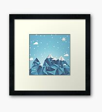 Cool Mountain Framed Print