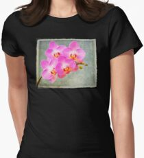 Pink orchid with texture T-Shirt