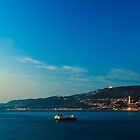Colorful sunset in front of the city of Trieste by zakaz86