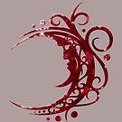 Blutmond, Mond, Pagan Wicca Art von Christine Krahl