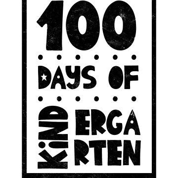 Teachers Students T-Shirt 100 Days Of Kinder Garten Tee Gift  by arnaldog