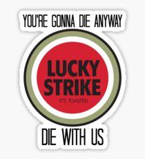 mad men lucky strike pitch Sticker