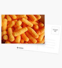 cheesy puffs Postcards