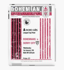 Bohemians vs Derry City Retro Match Programme iPad Case/Skin
