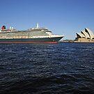 Queen Victoria Departing Sydney Harbour by Gino Iori