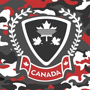 Canada - Camouflage Red by GR8DZINE