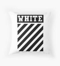 White by Off-White Throw Pillow