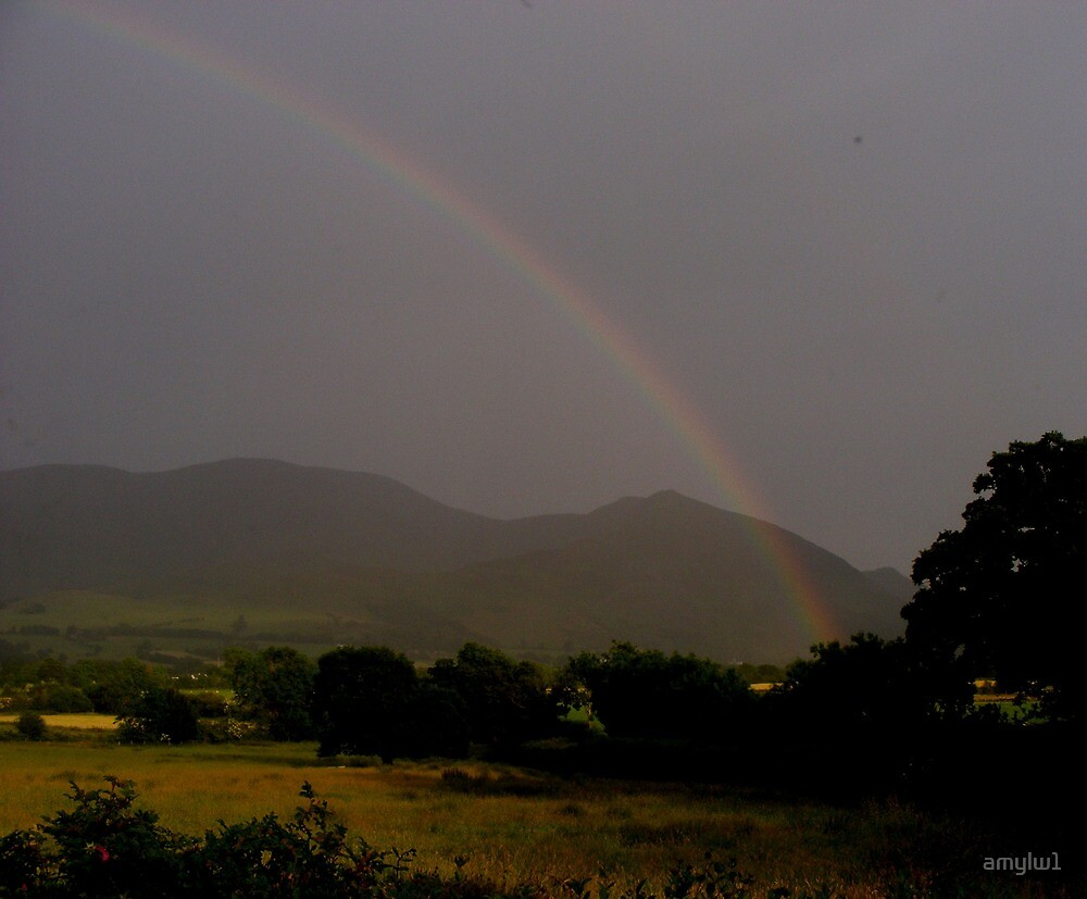 Rainbow over the mountains by amylw1