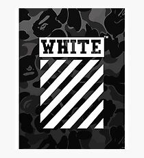 Off-White Bape Camo Photographic Print