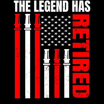 Retired Firefighter Shirt | US Flag Legend Gift by IsiTees