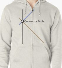 Connector Blob Zipped Hoodie