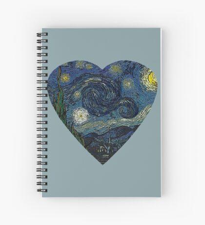 The Starry Night Heart Spiral Notebook