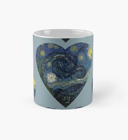 The Starry Night Heart Mug