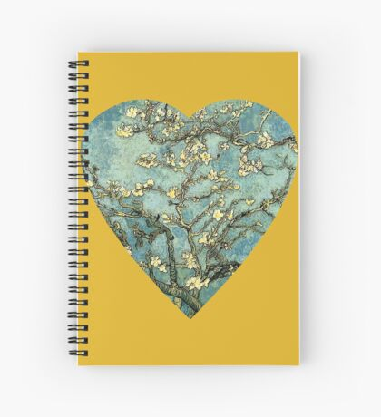Blossoming Almond Tree Heart Spiral Notebook