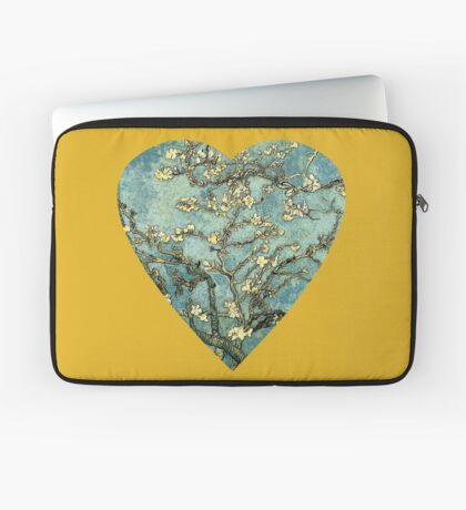 Blossoming Almond Tree Heart Laptop Sleeve