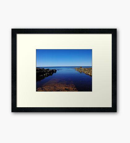 Sulpher Creek Geological Site Framed Print