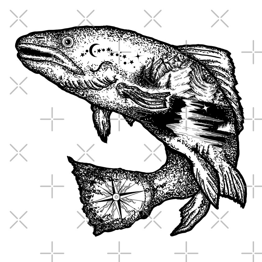 «Doble exposición de peces.» de intueri
