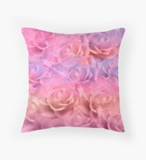 Soft Roses Art Work 2 Throw Pillow