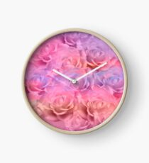 Soft Roses Art Work 2 Clock