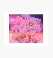 Soft Roses Art Work 2 Art Print