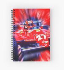 Canadian Race Legend Gilles Villeneuve Spiral Notebook