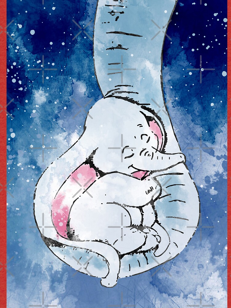 Dumbo and his mother, Mother and baby elephant by Rosaliartbook