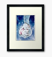 Dumbo and his mother, Mother and baby elephant Framed Print