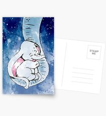 Dumbo and his mother, Mother and baby elephant Postcards