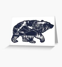 Bear double exposure Greeting Card