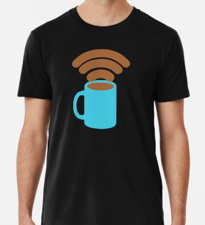 Will Pay for Coffee for Free Wifi Men's Premium T-Shirt