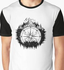 Mountain and compass Graphic T-Shirt