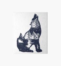 Wolf double exposure Art Board Print